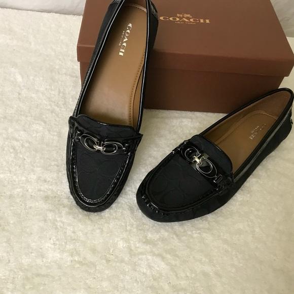 ba0b7fa7d47 COACH Fortunata Signature Loafer Size 8 M NIB